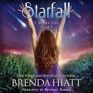Starfall: a Starstruck novel book 4 by Brenda Hiatt narrated by Bethany Barber audiobook cover